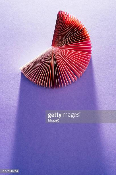 Colorful Red Purple Paper Pages Fanned Out