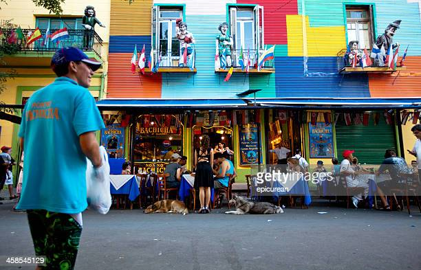 Colorful restaurant in the historic La Boca district