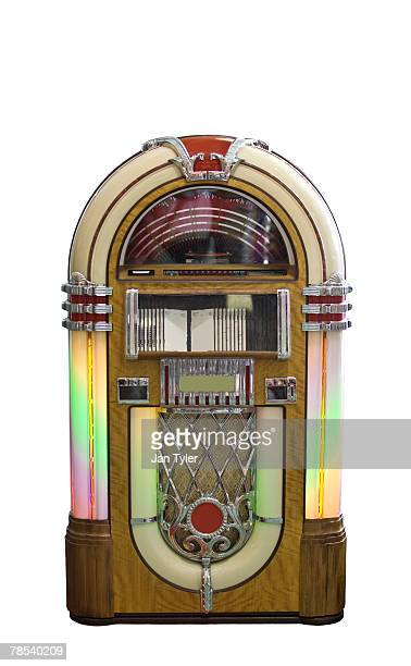 A colorful retro jukebox.