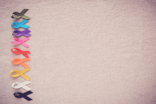 colorful ribbons, cancer awareness, World cancer day background 903499276