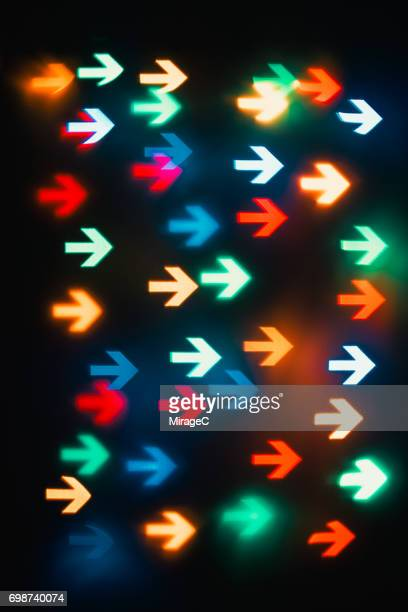 Colorful Right Arrow Bokeh