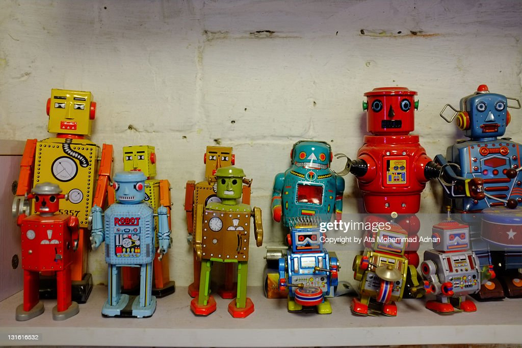 Colorful robot toys : Stock Photo