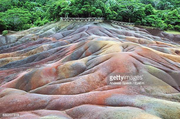 Colorful Rolling Landscape At Chamarel