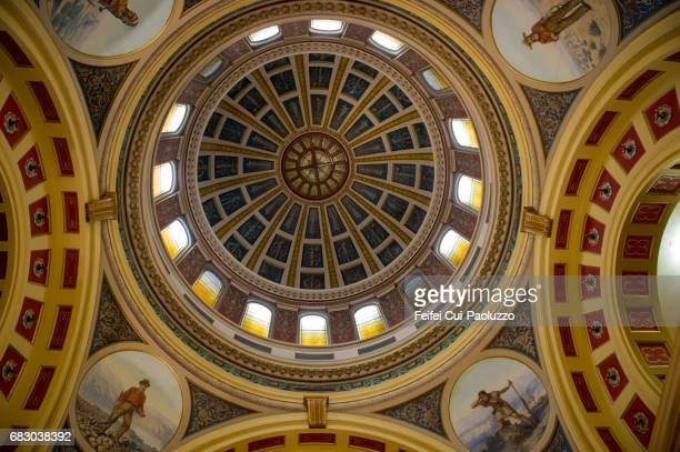 Colorful roof of Montana State Capitol, Helena, Montana State, USA