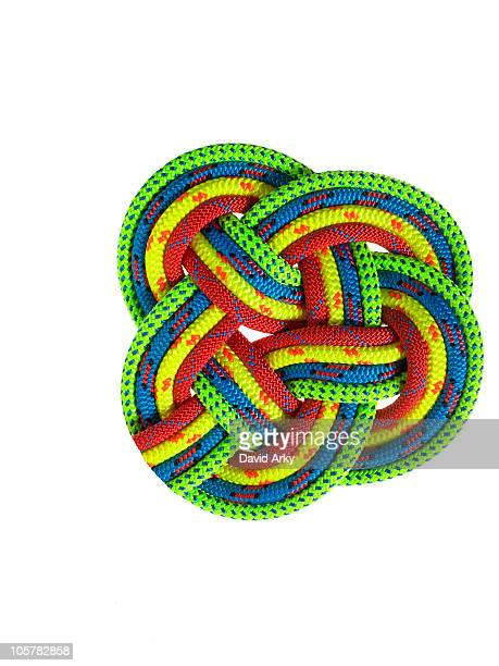 Colorful ropes looped together
