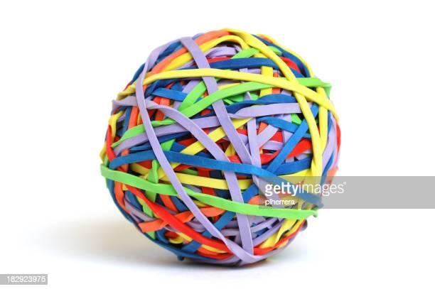 Bunte Gummiband ball