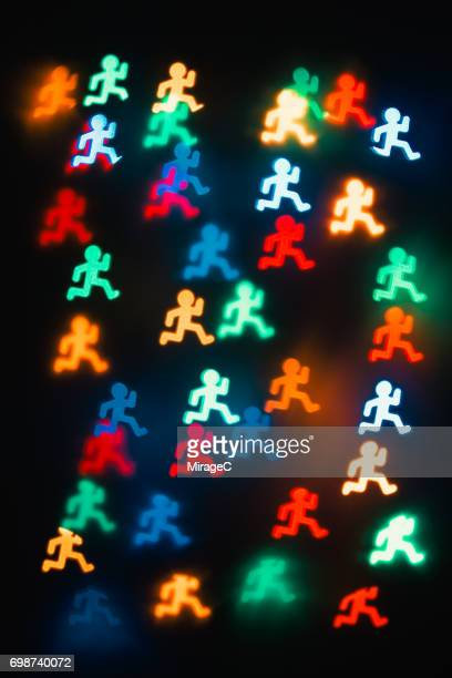 Colorful Running Bokeh