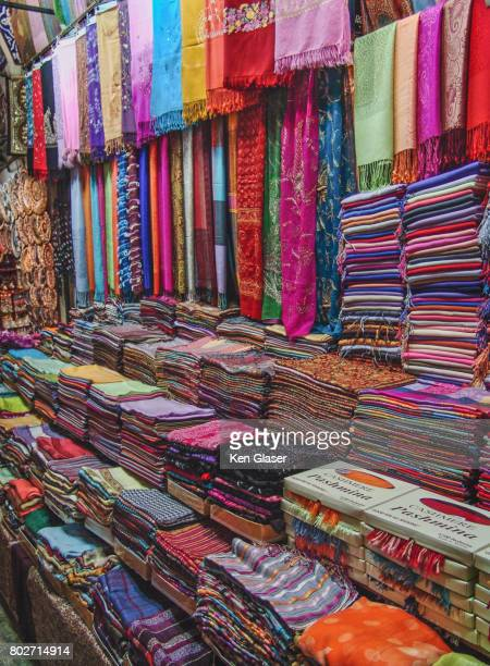 colorful scarfs istanbul - istanbul province stock pictures, royalty-free photos & images