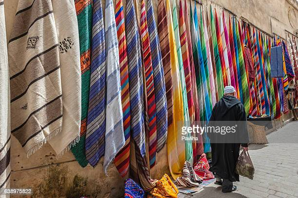 Colorful Scarves, Medina, Fez, Morocco