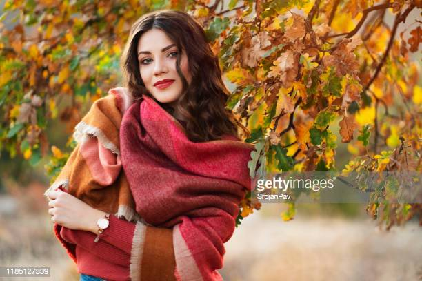 colorful season - shawl stock pictures, royalty-free photos & images