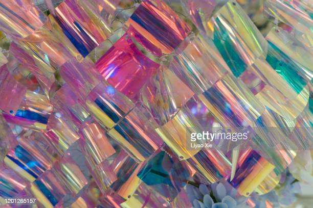 colorful sequins - liyao xie stock pictures, royalty-free photos & images