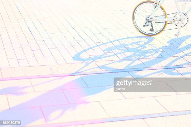 Colorful shadow of a bicycle