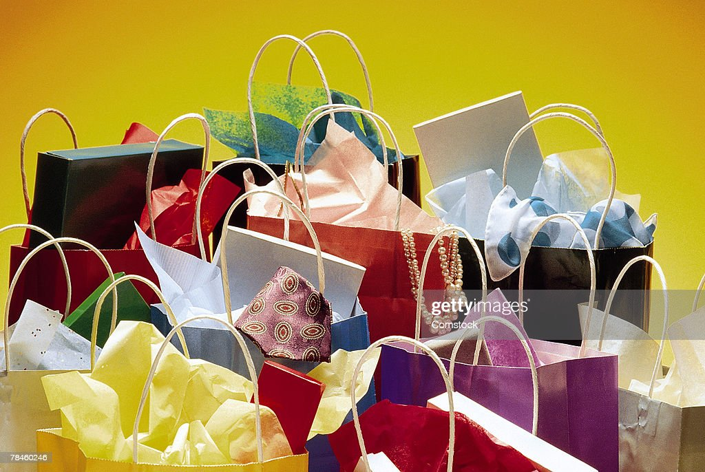 Colorful shopping bags : Stock Photo