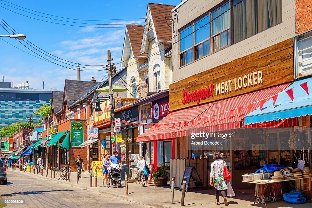 Colorful Shops at Kensington Market in Toronto Ontario Canada : Photo
