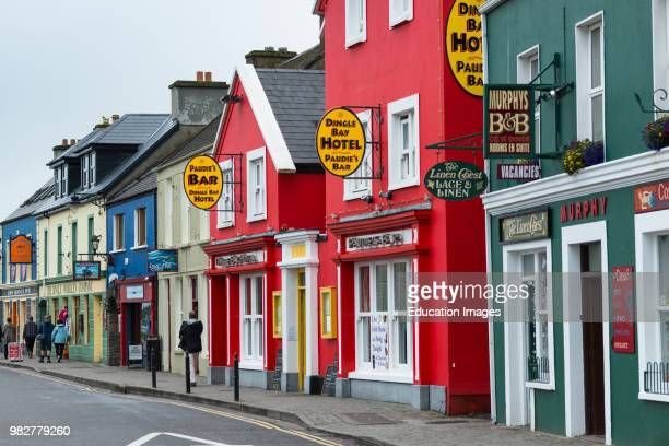 Colorful shops on the main street in Dingle town Dingle Peninsula County Kerry Republic of Ireland
