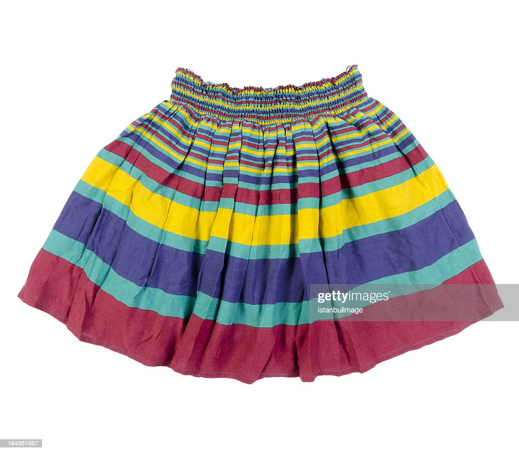 colorful skirt : Stock Photo
