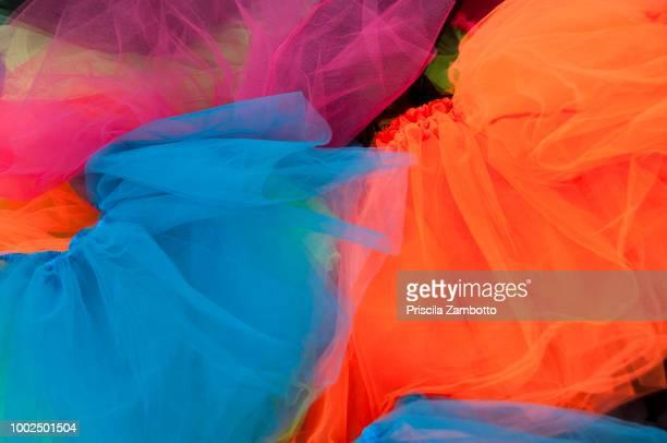 colorful skirts - チュール生地 ストックフォトと画像