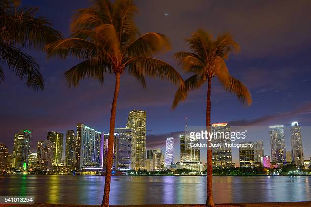 Colorful Sky Over Miami Skyline