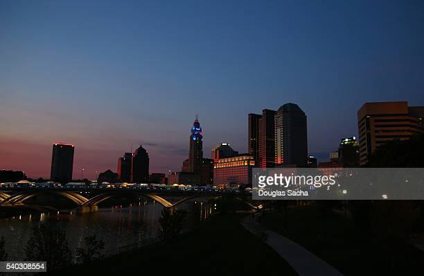 Colorful Sky over the city, Columbus, Ohio, USA