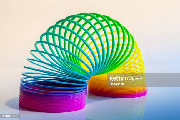 Colorful slinky toy
