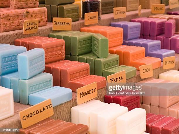 colorful soaps - castilla y león bildbanksfoton och bilder