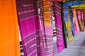 colorful soft fabric hanging show collection