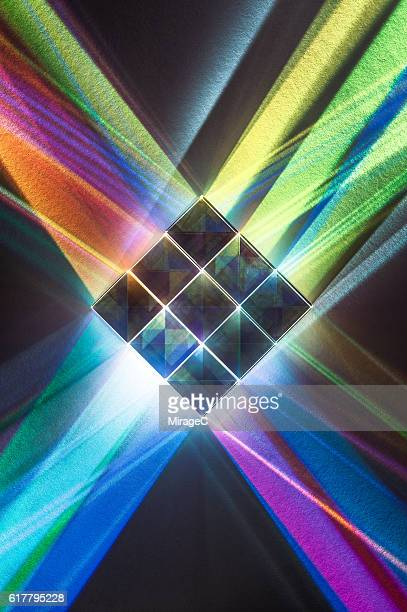 Colorful Spectrum and Cube Prisms