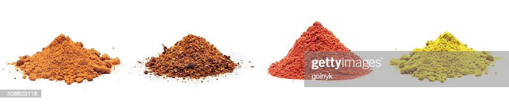 Colorful spices variety collection : Stock Photo