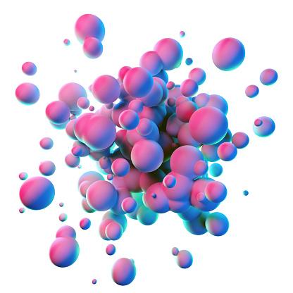 Colorful splash shapes isolated on white background 1127774459