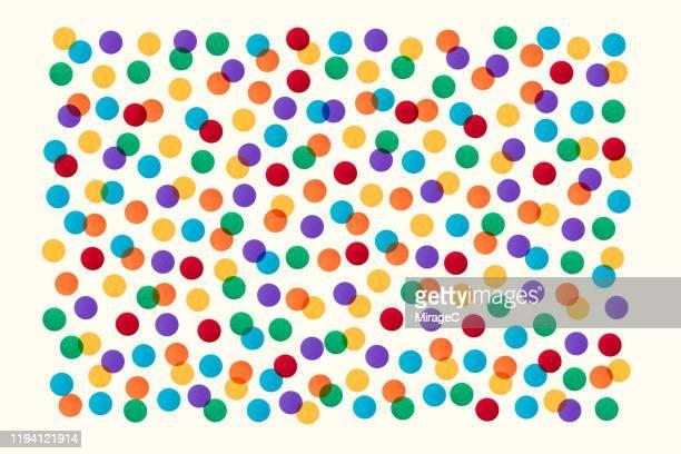 colorful spotted paper pattern - miglioramento digitale foto e immagini stock