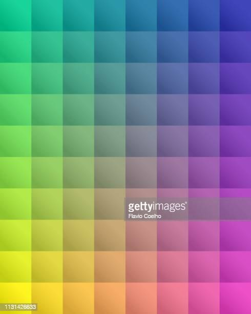 colorful squares spectrum background - square stock pictures, royalty-free photos & images
