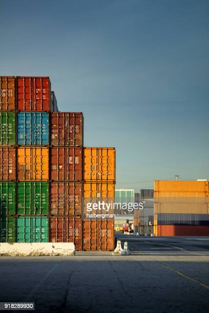Colorful Stack of Shipping Containers