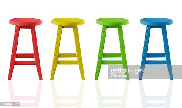 colorful stools - stool stock pictures, royalty-free photos & images