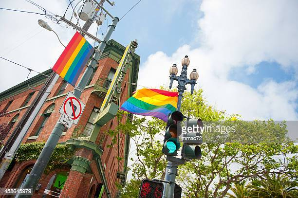 colorful street in san francisco - castro district stock pictures, royalty-free photos & images