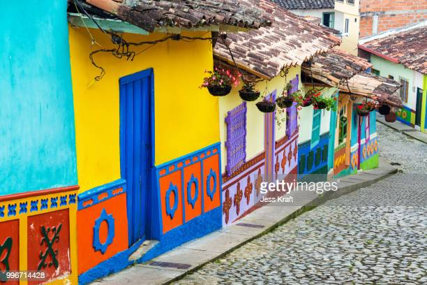 colorful street - medellin colombia stock pictures, royalty-free photos & images