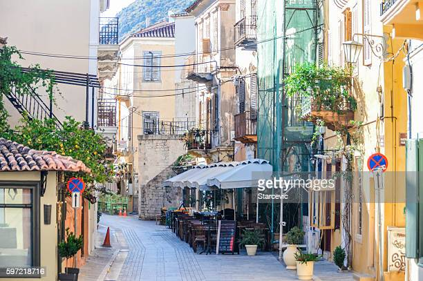 Colorful streets of Greek town - Nafplio, Greece
