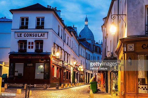 Colorful streets of Montmarte in Paris