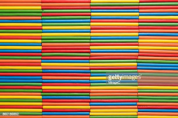 Colorful Stripes Made of Sticks