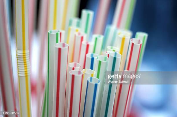 Colorful strohhalme straws