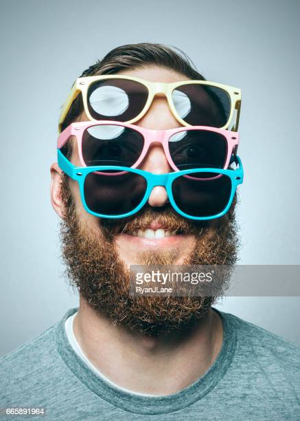 Colorful Sunglasses Portrait