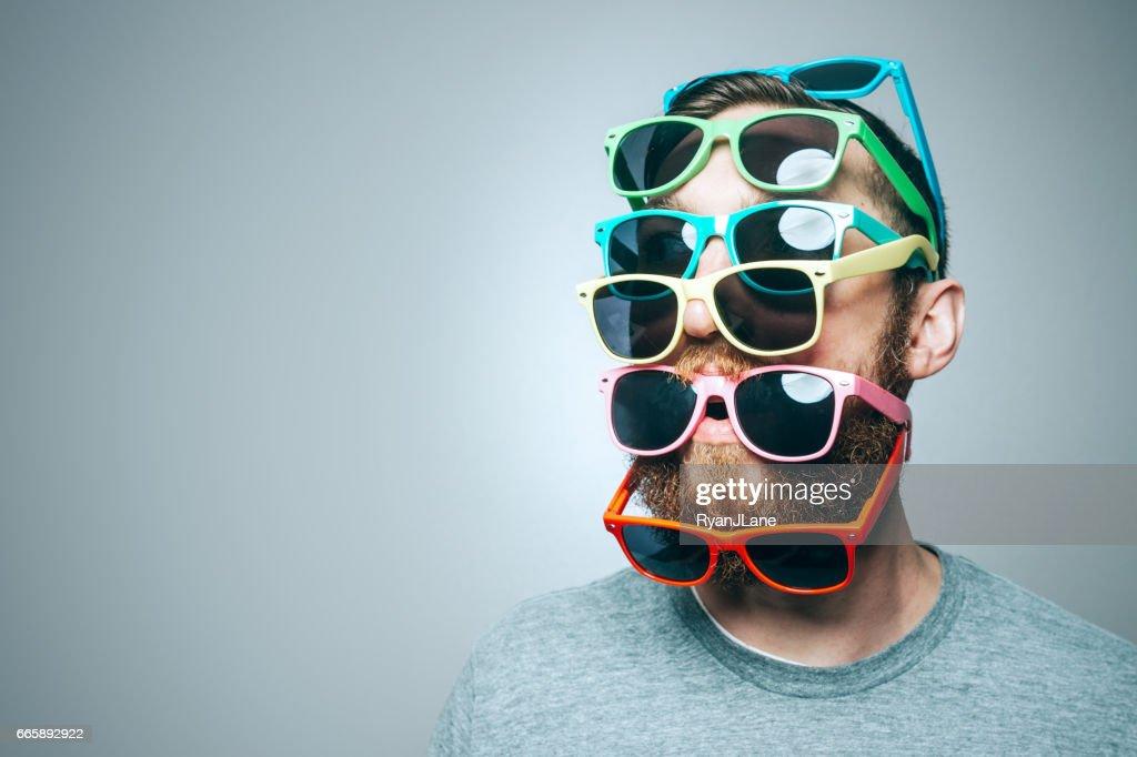 Colorful Sunglasses Portrait : Stock Photo
