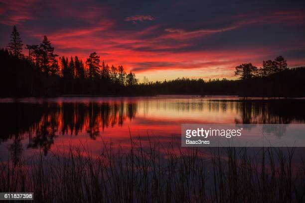 Colorful sunrise i Nedre Eiker, Norway