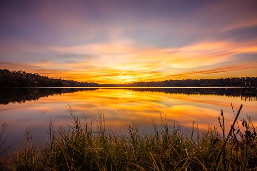 Colorful Sunset At Davis Lake 1184692500
