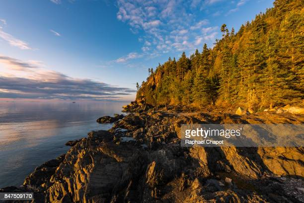 Colorful sunset at the Bic National park - Quebec - Canada