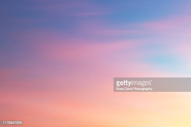 colorful sunset background - sky only stock pictures, royalty-free photos & images