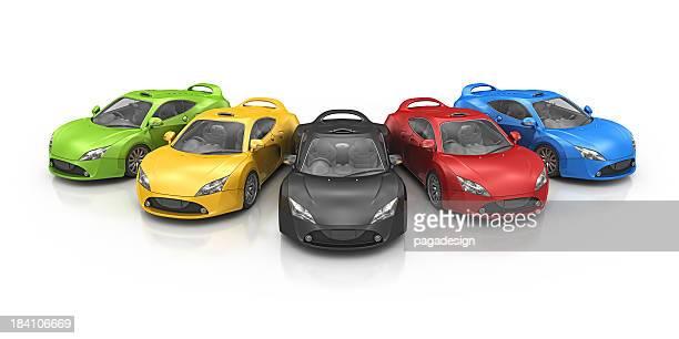 colorful supercar