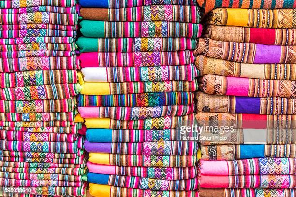 colorful sweaters and scarves in lima peru - lima stock-fotos und bilder