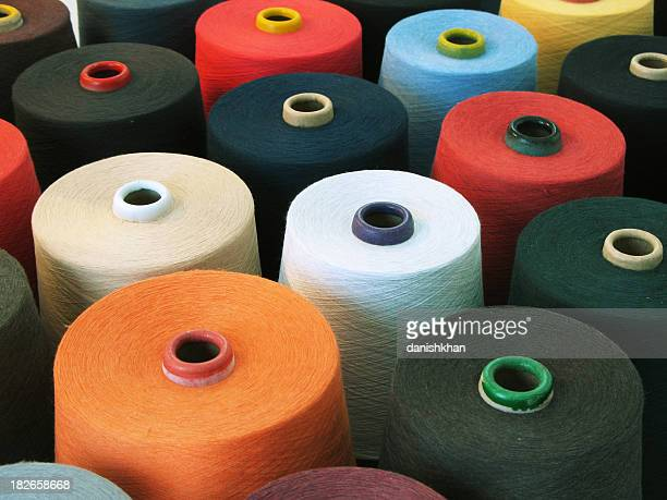 colorful textile - cone shape stock photos and pictures