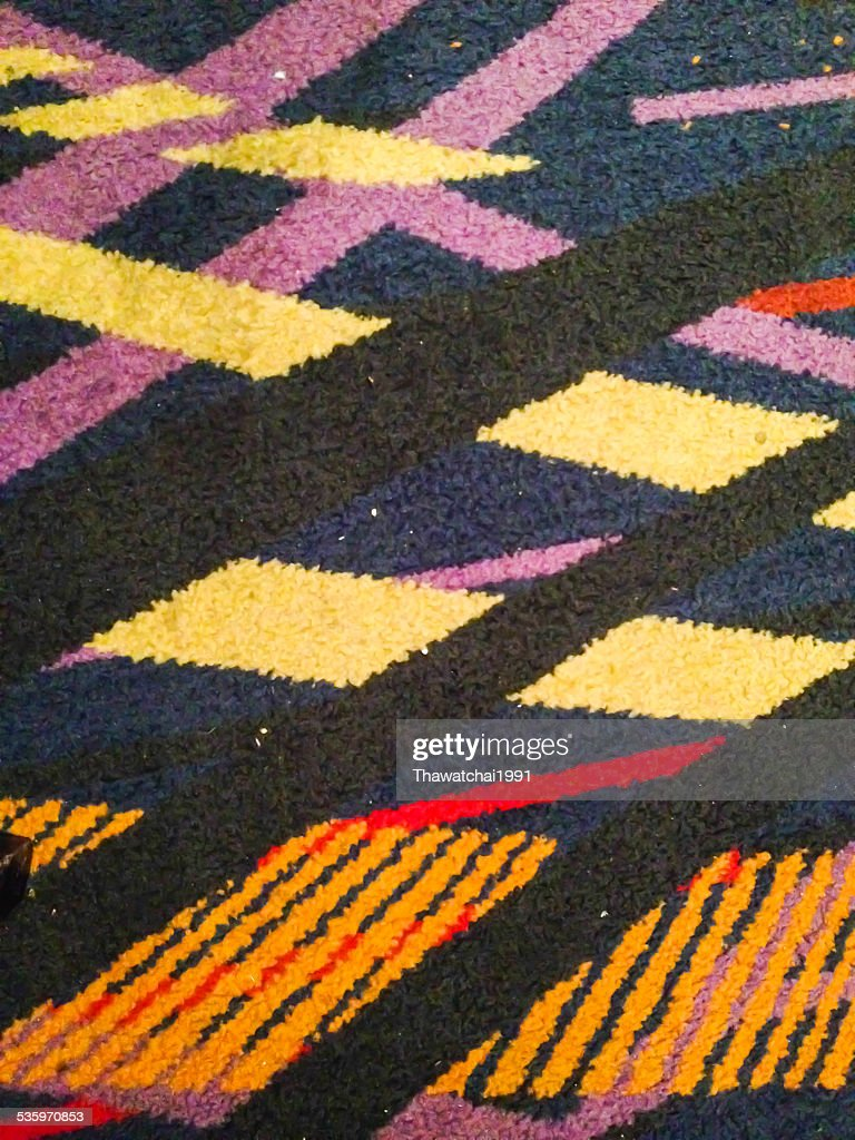 Colorful thai peruvian style rug surface close up : Stock Photo