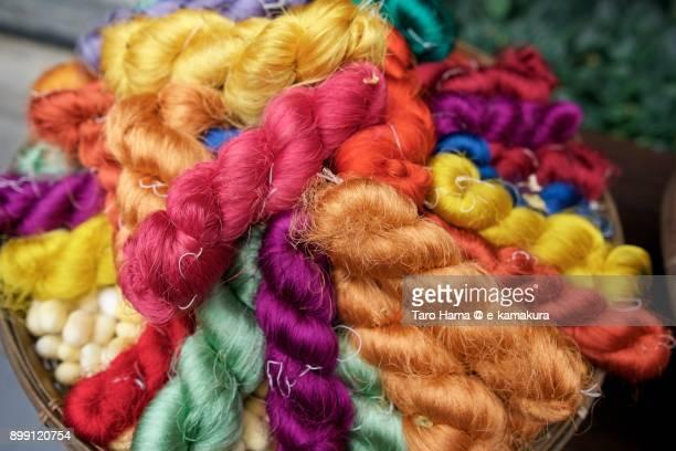 Colorful Thai Silk filaments